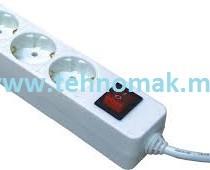 Prodolzen kabel so 3 priklucoci so prekinuvac (kabel dolzina 1.5m , 3m , 5m)