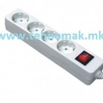 Prodolzen kabel so 4 priklucoci so prekinuvac (kabel dolzina 1.5m , 3m , 5m)