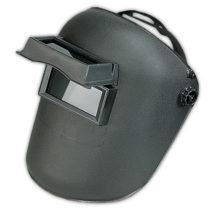 maska za zavaruvanje za na glava ( izrabotena od plastika . Sluzi za zastita pri elektricno zavaruvanje )