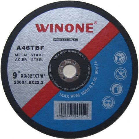 Brusen kamen za metal WINONE ( Fi 115mm; 125mm; 150mm; 180mm; 230mm )