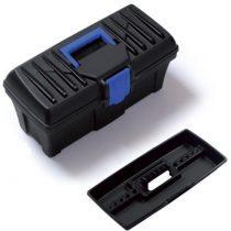 PROSPERPLAST Skrzynka narzędziowa Caliber, 400x200x150 mm, N15S.  Charakterystyka produktu:  Wytrzymały wzór skrzynki.  Solidne zapięcia.  Pokrywa nie posiada organizerów, dzięki czemu jest przydatna przy ciężkich, profesjonalnych pracach.
